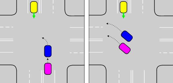 Если поворот налево разрешен